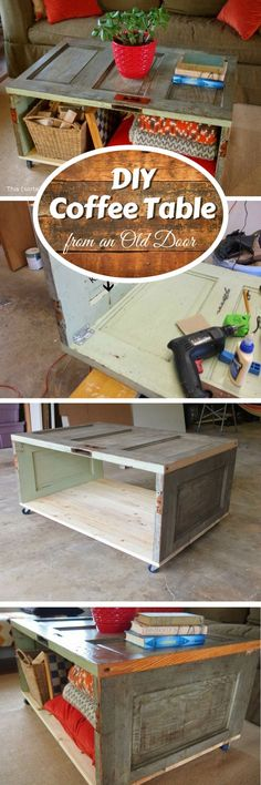 Check out how to build a DIY coffee table from an old door @istandarddesign