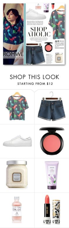 """""""Street Fashion Style"""" by tasnime-ben ❤ liked on Polyvore featuring MAC Cosmetics, Laura Mercier, Mamonde, Anna Sui and romwe"""