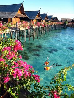 Huts in Tahiti - beautiful!