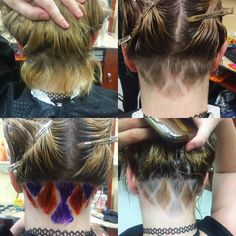 First ever undercut and color (which I'll be touching up and dressing up tomorrow ����) thanks for trusting me Karl ✌��️�� #undercuts #color #coloredhair #cosmetology #cosmetologyschool #cosmetologystudent #hair #haircut #buzz #diamonds http://tipsrazzi.com/ipost/1522711907051428023/?code=BUhwmlrDti3
