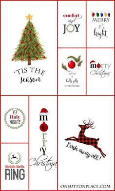 DIY Christmas ideas and inspiration for the home. Free Christmas printables for DIY wall art. Also includes Christmas crafts, gifts, food, decorations, wreaths. Noel Christmas, Christmas Quotes, Christmas Signs, All Things Christmas, Vintage Christmas, Christmas Decorations, Christmas Ornaments, Christmas Fonts, Food Decorations