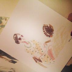 Io attraverso occhi e pennarelli di Mary Cinque #contemporaryart #mary5 #fashion #disegni #dress #pois