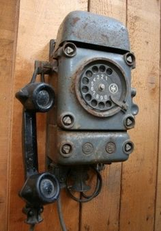 Vintage Wall Mount Rotary Dial Telephone