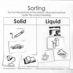 Sorting Solids and Liquids Worksheet - Moms Have Questions Too