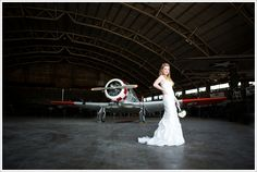 When a bride approaches me with a concept that includes airplanes--you better know I am all about it! :DFunny story....Shalyn and I had booked the Vintage Flying Museum in Fort Worth, Tx back in March. Unfortunately, it rained and we knew that the water and clouds would not work out for what we…