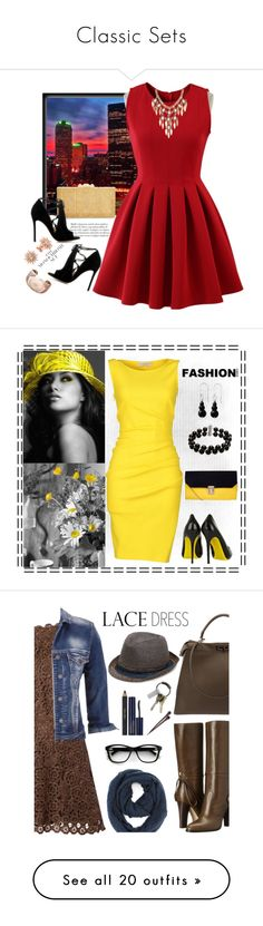 """""""Classic Sets"""" by juice2003 on Polyvore featuring Chicwish, BCBGMAXAZRIA, Gianvito Rossi, Links of London, Charlotte Russe, Emilio Pucci, Gianmarco Lorenzi, Belk & Co., NOVICA and maurices"""
