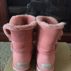 Coral uggs Authentic Coral used uggs Authentic UGG Shoes Winter & Rain Boots