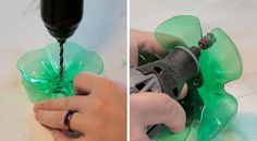 Drill A Couple Of Plastic Bottle Bottoms