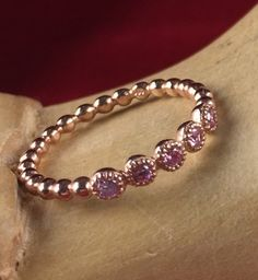 Rose Gold over 925 Sterling Silver Pink Sapphire Filigree Wedding Band TIR5069PRS|We combine shipping|No Question Refunds|Bid $60 for free shipping. Starting at $1