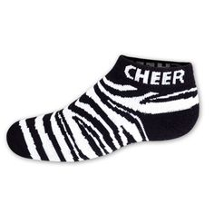 zebra cheer socks