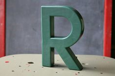 Vintage Plastic Sign Letter R by OhSoRetroVintage on Etsy, SOLD