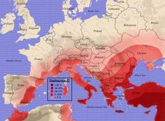 DNA Map of the Migration of peoples, migrating from Turkey, where Noah's Ark landed.