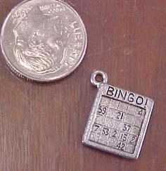 Bingo Card Charms, Great for jewelry and crafts. $1.10