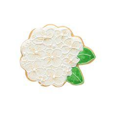 White hydrangea cookie