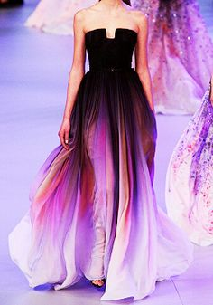 Elie Saab Paris Fashion Week 2014. the colors in this dress are absolutely stunning.