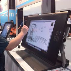 A drawing tablet that is a self-contained computer - configurable in Mac or PC setups.  Shown at the Photoshop World event in DC this weekend.  Very, very cool.