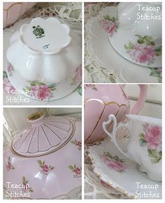 Teacupstitches: TEACUP TUESDAY with pretty pink roses