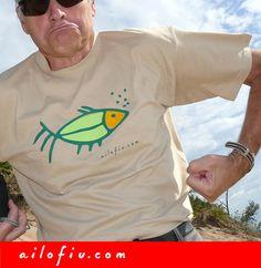 """Green fish"" t-shirt by ailofiu tees"
