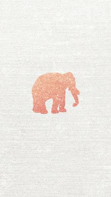Rose Gold Glitter Elephant Vector | free iPhone wallpapers