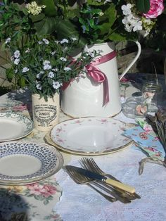 I have been scouring the local antique shops for months looking for vintage china settings.  Each place setting will be unique and beautiful mismatched china. my-wedding-ideas