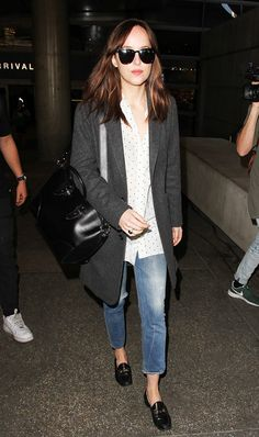 89f337992 9 Chill Outfit Formulas to Copy From Dakota Johnson. Gucci Brixton  LoaferGucci ...