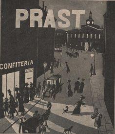 La calle Arenal cerca de la puerta del Sol de Madrid, en un dibujo de la revista Blanco y Negro de 1913