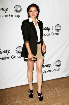 Lana Parrilla. Love the outfit & killer shoes.