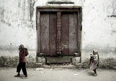 An old door in Pemba, Tanzania
