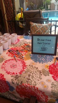 Design your own tea cup Alice in Wonderland party ideas