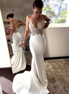 Charming Lace Sexy Backless Mermaid Jersey Prom Dresses from Ulass Prom Dresses Lace, Mermaid Prom Dresses, Prom Dresses Backless, Prom Dresses Sexy, Prom Dress Prom Dresses 2019 Backless Prom Dresses, Sexy Wedding Dresses, Bridal Dresses, Wedding Gowns, Dress Prom, Maxi Dresses, Lace Wedding, Wedding Venues, Party Dresses