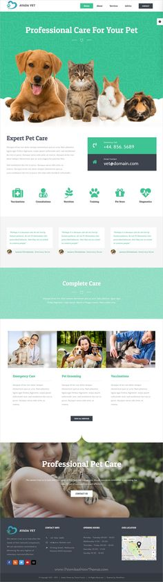 Avada is most popular multipurpose #WordPress Theme of all time. It has sold 370,000+ copies with 50+ stunning homepage layouts #veterinary and #pets #petcare website demo is rich and sophisticated, yet still down to earth click on the image to download.