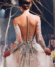 Close up view on Paolo Sebastian wedding gown Pretty Dresses, Beautiful Dresses, Gorgeous Dress, Bridal Gowns, Wedding Gowns, Lace Wedding, Wedding Dress Backless, Backless Dresses, Dream Dress