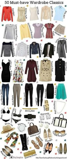 50 must have womens wardrobe pieces 2013