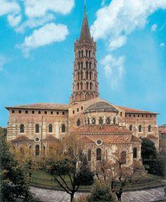 Basilica di Saint-Sernin, a Tolosa. La Basilica venne costruita alla fine del IV secolo e costituisce uno dei maggiori esempi di arte romanica diffusasi nel sud della Francia.
