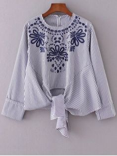 GET $50 NOW | Join RoseGal: Get YOUR $50 NOW!http://www.rosegal.com/blouses/round-neck-embroidered-striped-blouse-762365.html?seid=4968724rg762365
