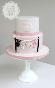 Washing line christening cake