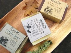 Trio of Artisan Soap: A trio of beautiful handcrafted cold process soap!