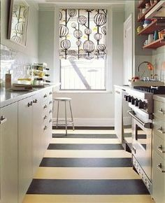 Marmoleum - stripe. Not sure I'd like it but thought it's worth discussing