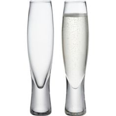 I own these and love these. Masculine enough for the fellas too. (Champagne flutes: cb2.com)