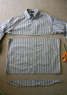 Men's Shirt to Toddler Skirt