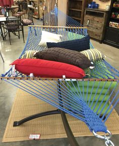 Spring's just around the corner. Pick up your long lasting Duracord rope hammocks at The Backyard & Patio Store and start enjoying your outdoor living space. Rope Hammock, Hammocks, Outdoor Chairs, Outdoor Furniture, Outdoor Decor, Patio Store, Afternoon Nap, Backyard Patio, Outdoor Living