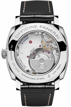 Officine Panerai Luminor Due 3 Days Automatic Acciaio Black Dial Watch - Authorised Panerai Dealer. View the Collection ONLINE NOW Dream Watches, Fine Watches, Luxury Watches, Cool Watches, Watches For Men, Panerai Radiomir, Panerai Watches, Best Looking Watches, Beautiful Watches