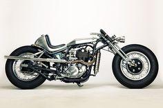 "Meet ""Clock Work"", a radical Yamaha SR400 transformation by Motor Rock of Japan."