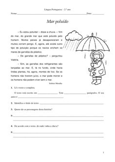 Língua Portuguesa – 2.º anoNome:____________________________________________________________Data: __________              ...