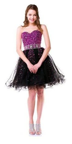 Beaded Sweetheart A-Line Cocktail Prom Dress
