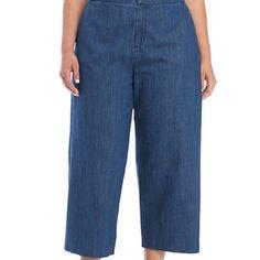 Madison Jeans | Madison Plus Size Wide Leg Culottes Size 6 Nwt | Poshmark Size 16, Plus Size, Wide Leg Denim, Culottes, Denim Fabric, Bell Bottom Jeans, Polka Dots, Pajama Pants, Legs
