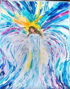 Angel by Sue Schenck.  11 x 14  $150.00 Palette knife oil painting.