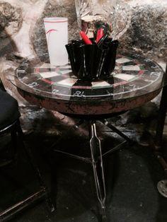 drum stool - dart board side table