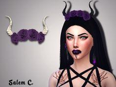 Devil flower crown at Salem2342 via Sims 4 Updates