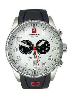 Swiss Military Calibre Red Star Chronograph Men's watch #06-4R4-04-001  http://www.originalwatchstore.com/brand/swiss-military/